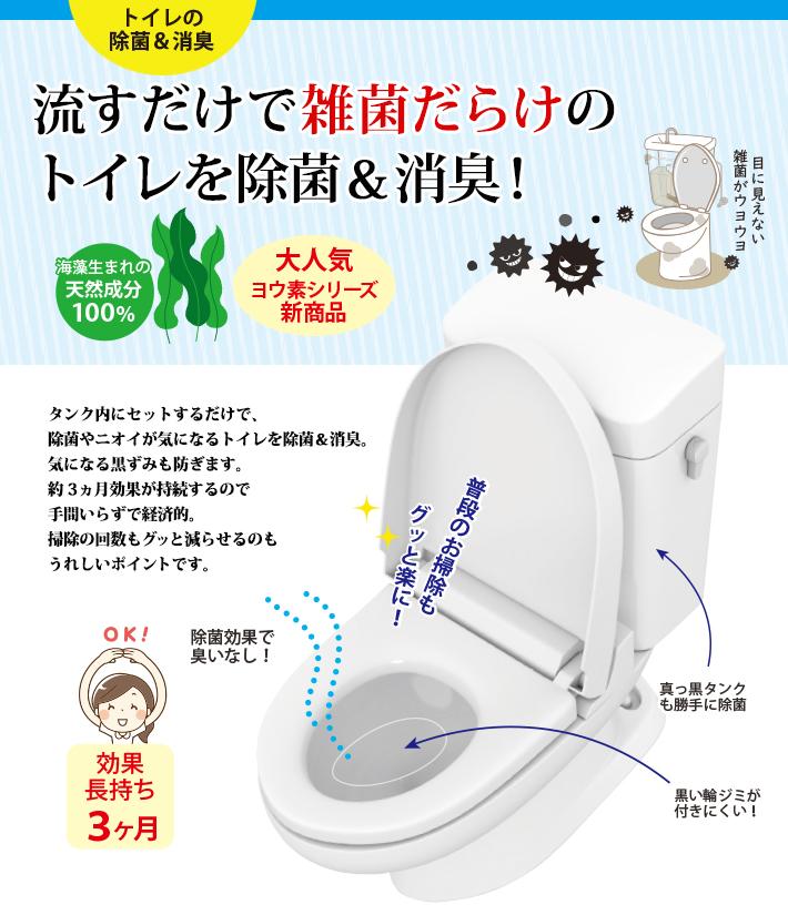 流すだけで雑菌だらけのトイレを除菌&消臭!